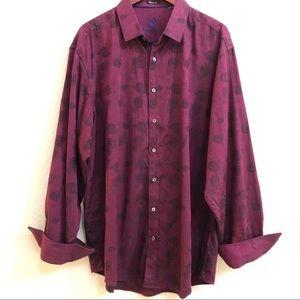 Bugatchi Uomo Classic Fit Contrast Flip Cuff Shirt